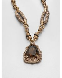 Stephen Dweck | Metallic Smoky Quartz Pendant Necklace | Lyst