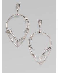 Stephen Webster | Metallic Ruby & Sterling Silver Thorn Earrings | Lyst