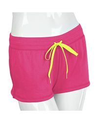Steve Madden | Pink French Terry Lounge Shorts | Lyst