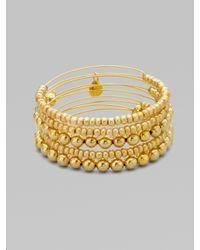 ALEX AND ANI | Metallic Expandable Wire Bracelet Set | Lyst