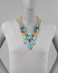 Alexis Bittar   Metallic Cordova Antiqued Large Necklace   Lyst