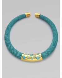 Alexis Bittar | Blue Beaded Collar Necklace | Lyst