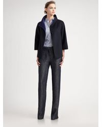 Armani - Gray Linen Pants - Lyst