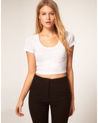 ASOS | White 90's Crop Top | Lyst