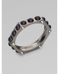 CC SKYE - Black Grace Jones Pearl Bangle Bracelet - Lyst