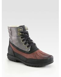 Cole Haan | Purple Air Rhone Quilted Waterproof Boots for Men | Lyst