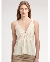 Donna Karan | Natural Tissue Silk Crepe Blouse | Lyst