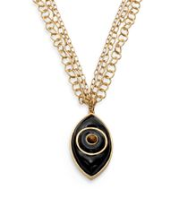 Kara Ross - Black Evil Eye Pendant Necklace - Lyst