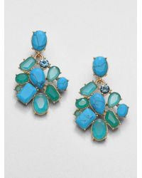 kate spade new york - Faceted Cluster Earringsblue Green - Lyst