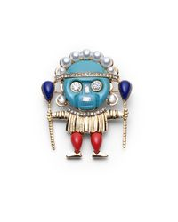 Kenneth Jay Lane - Multicolor Medicine Man Pin - Lyst