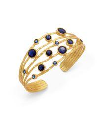 Kevia | Metallic Blue Corundum Hammered Cuff | Lyst