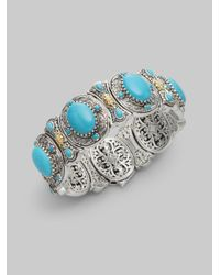 Konstantino | Metallic Turquoise 18k Gold Sterling Silver Bracelet | Lyst