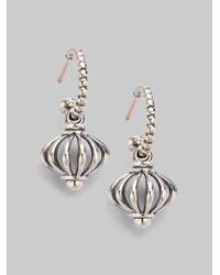 Lagos - Metallic Sterling Silver Birdcage Drop Earrings - Lyst