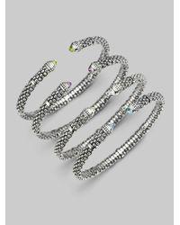 Lagos - Metallic White Topaz Sterling Silver 6mm Bracelet - Lyst