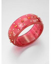 Marc By Marc Jacobs - Red Studded and Jeweled Bracelet - Lyst