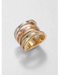 Michael Kors - Gray Tritone Twisted Ring - Lyst