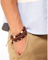 Simon Carter - Brown River Island Beaded Bracelet Pack for Men - Lyst