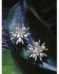 Roberto Coin - White Gold Diamond Star Earrings - Lyst