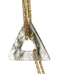 Sam Ubhi - White Chunky Agate Necklace - Lyst