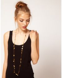 Sam Ubhi - Metallic Lace Chain with Charms and Pearls - Lyst