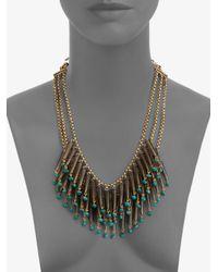 Stephen Dweck - Blue Smoky Topaz Turquoise Bib Necklace - Lyst