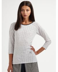 Z Spoke by Zac Posen - White Cursive Heart-print Top - Lyst