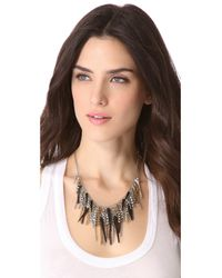 Adia Kibur - Metallic Spike Crystal Necklace - Lyst