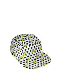 ASOS - White 5 Panel Cap with Banana Polka Dot Print for Men - Lyst