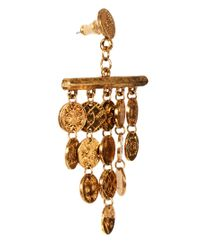 House of Harlow 1960 - Metallic 14ct Gold Plated Tiered Coin Earrings - Lyst