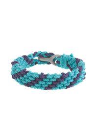 J.Crew | Blue Braided Rope Bracelet in Stripe for Men | Lyst