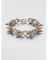 Joomi Lim | Pink Crystal & Spike Bracelet | Lyst