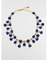 kate spade new york - Blue Moonlit Way Cabochon Collar Necklace - Lyst