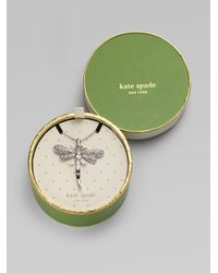 kate spade new york | Metallic Dragonfly Pendant Necklace | Lyst