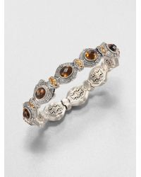 Konstantino | Metallic Cognac Quartz Citrine and Sterling Silver Bracelet | Lyst