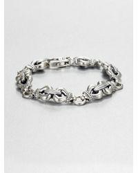 Lagos | Metallic Sterling Silver Link Bracelet | Lyst