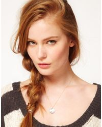 ASOS | Metallic Laura Lee Antiqued Silver Rabbit Coin Necklace | Lyst