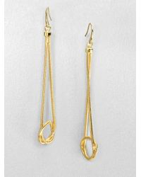 Michael Kors - Metallic Knotted Snake Chain Drop Earrings - Lyst