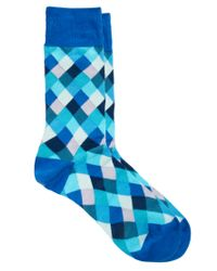 Paul by Paul Smith | Blue Paul Smith Harlequin Socks for Men | Lyst