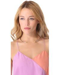 Rachel Zoe - Metallic Bear Claw Collar Necklace - Lyst