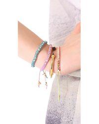 Shashi - Metallic Sarah Yellow Nugget Bracelet - Lyst