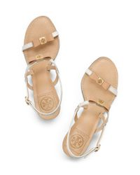 Tory Burch - Natural Kailey Mid Heel Sandals - Lyst