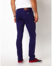 Vans - Jeans V76 Skinny Fit Blue Overdye for Men - Lyst