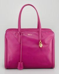 Alexander McQueen   Pink New Padlock Medium Satchel Bag   Lyst