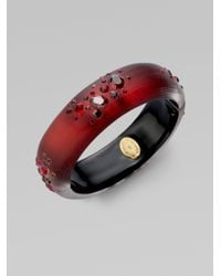 Alexis Bittar - Red Ruby Dust Lucite Large Bracelet - Lyst