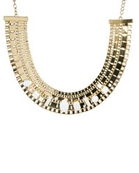 ASOS - Metallic Stone Pharaoh Necklace - Lyst