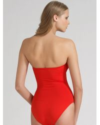 Eres - Red Cassiopee One-piece Swimsuit - Lyst