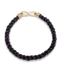 Giles & Brother - Black Millegrain Leather Rope Necklace - Lyst