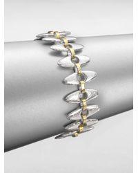Gurhan | Metallic Sterling Silver 24k Gold Seed Link Bracelet | Lyst