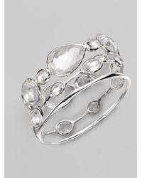 Ippolita - Metallic Clear Quartz Sterling Silver Bracelet - Lyst