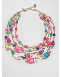 kate spade new york | Multicolor Pueblo Tiles Multistrand Necklace | Lyst